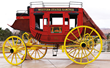 Lot 1172:  Scarce Werner Wagon Works Replica 1846 Concord Nine Passenger Stagecoach, $30,000-40,000.