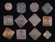 "Lot 1228:  Exceptional and Finest Collection of Rarest Varieties of Charleston, South Carolina, ""Slave Hire"" Occupational Tags 1800-1864, $90,000-125,000."