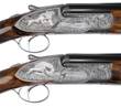 Lot 1296: Stunning Pair Of Ivo Fabbri 20 Ga Over-Under Game Shotguns with Incredibly Detailed Game Scenes by Renown Master Engraver, Firmo Fracassi, $375,000-575,000.