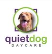 quiet dog daycare workshop logo