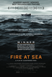 "This one sheet movie poster from the documentary film, ""Fire at Sea"" is courtesy of Kino Lorber."