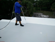 Sherwin Williams Uniflex liquid applied roofing system on MGO SIP panels