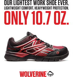 Lightest Safety-Toe Work Shoe