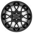 Black Rhino Truck Wheels - the Predator in Gloss Black W/Milled Windows