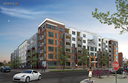 The Metropolitan in the Glenwood South neighborhood of Raleigh, North Carolina. Rendering courtesy of JDavis.
