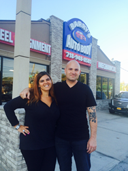 Barry and Michelle of Barry's Auto Body Staten Island