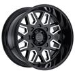 Black Rhino Truck Wheels - the Predator in Gloss Black W/Milled Windows