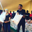 Uebert Angel and his wife helping the poor through the Uebert Angel Foundation