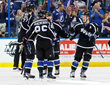 The Lightning Celebrate a Goal by NHL All-Star Defenseman Victor Hedman at AMALIE Arena - Photo Courtesy of Getty Images