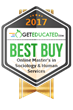 GetEducated.com Releases 2017 Best Buy Rankings of Regionally-Accredited Online Master's in Sociology & Human Services