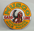 Musgo Gasoline Michigan's Mile Maker Sign, Estimated at $80,000-120,000.