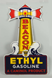Beacon Ethyl Gasoline Lighthouse Porcelain Sign, Estimated at $50,000-80,000.