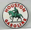 Houston Gasoline w/ Logo Porcelain Sign, Estimated at $15,000-30,000.