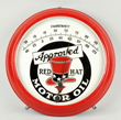 Approved Red Hat Motor Oil Porcelain Thermometer, Estimated at $8,000-12,000.