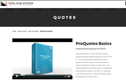 ProQuotes Basics - PFS - FCPX Effects