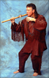 Native American flutist Douglas Blue Feather.