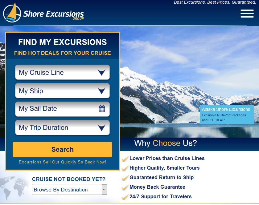 Shore excursions group coupon code