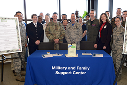 Andrews Federal Credit Union's Kaylee Abbott and Andrea Witter in attendance at the Military Saves Week Proclamation signing.
