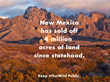 New Wilderness Society Report Shows State of New Mexico has History of Restricting Public Access and Selling-off State Trust Lands