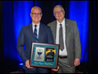 James D. Hussin (l.), Director of Keller Foundations LLC, is presented the  2017 Wallace Hayward Baker Award from the ASCE Geo-Institute by Garry H. Gregory (r.), president of the Geo-Institute.