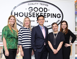 Dr Steven Wang receives the Good Housekeeping Seal at the Good Housekeeping Institute