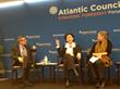 Sonita Lontoh, speaking at the Atlantic Council Disrupt
