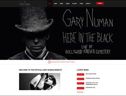 Gary Numan's New Website Launched Through Web Design Firm Sunlight Media LLC