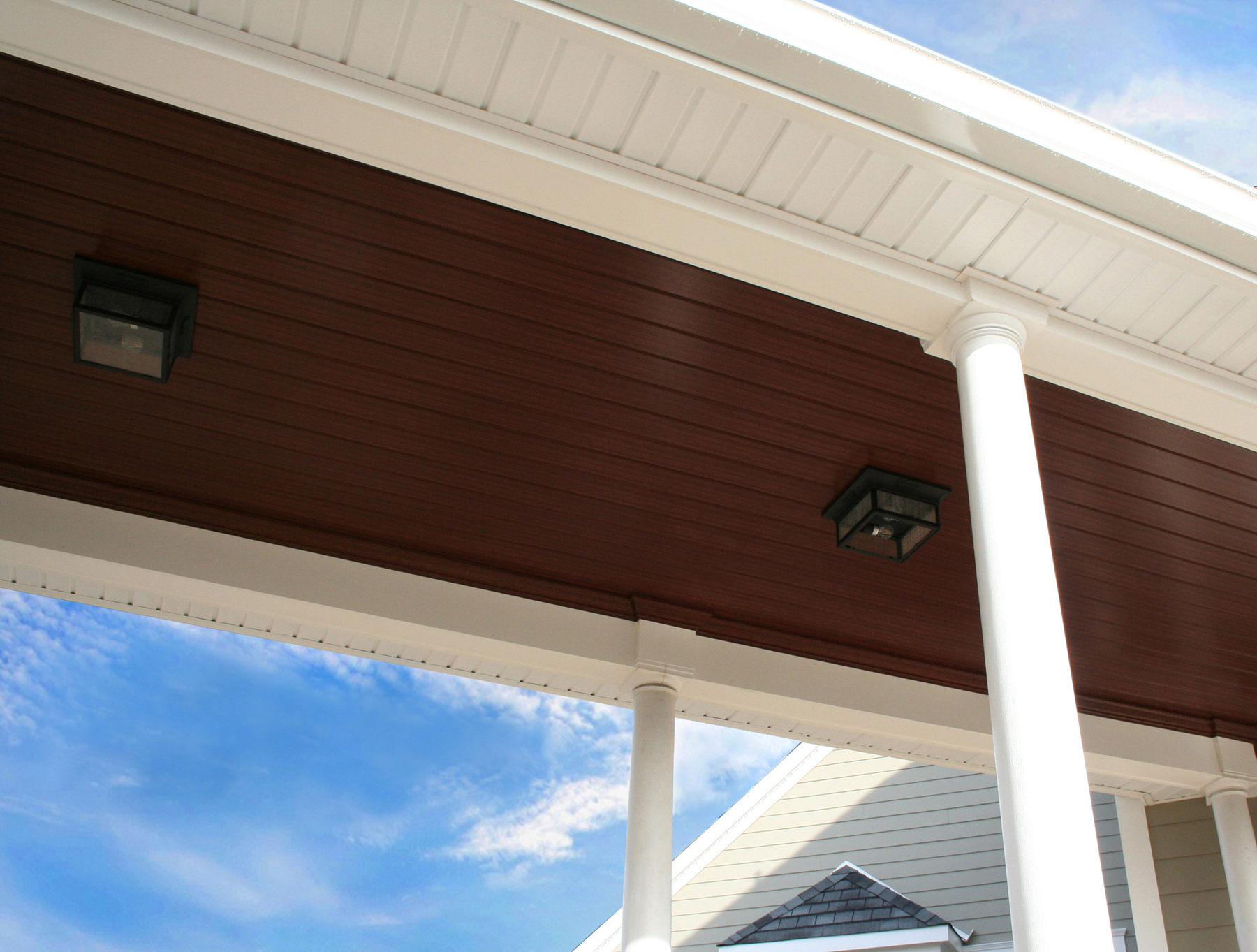 Tongue And Groove Porch Ceilings With The Warm Look Of