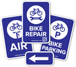 Help Bicyclists Find Bike Parking, Repair, and Air with Dero's New Signage