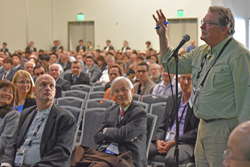 Discussion is always lively among attendees at SPIE Advanced Lithography.