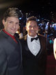 Voxx with Jeff Timmons from 98 Degrees on the Red Carpet at the City Gala at the Disney Concert Hall supporting the International Arts & Philanthropy Foundation.