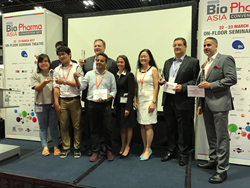 BioPharma Asia 2017 Award Winners, including Catalent's Mark Bissett second right