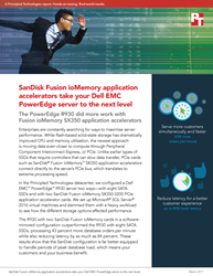 See how SanDisk Fusion ioMemory SX350 application accelerators can increase database server performance while reducing latency in a Dell EMC PowerEdge R930