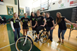 Members of Husson University's Organization of Physical Therapy Students (OPTS) with a 2016 raffle prize.