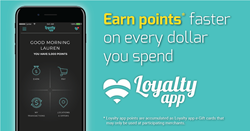 Earn points with Loyalty app