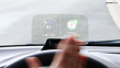 Gesture controll to recieve phone calls while driving