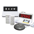 The Sonic Alert HomeAware Fire Safety Kit alerts the Deaf and Hard of Hearing to smoke and carbon monoxide emergencies.