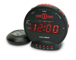The Sonic Bomb vibrating alarm clock wakes the Deaf, hard of hearing and deep sleepers.