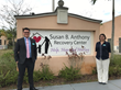 Bellefit, a family-owned business in Weston, FL partners with Susan B. Anthony Recovery Center in Pembroke Pines, FL. Pictured Andy Suarez (General Manager) & Carolina Suarez-Garcia (Public Relations)