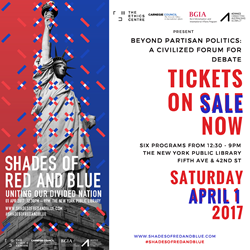 Shades of Red and Blue, April 1, 2017