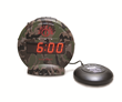 The Sonic Bomb vibrating alarm clock wakes the deaf, hard of hearing or deep sleepers.