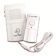 The Sonic Alert DB100 Doorbell Transmitter flashes a lamp when someone rings the doorbell.