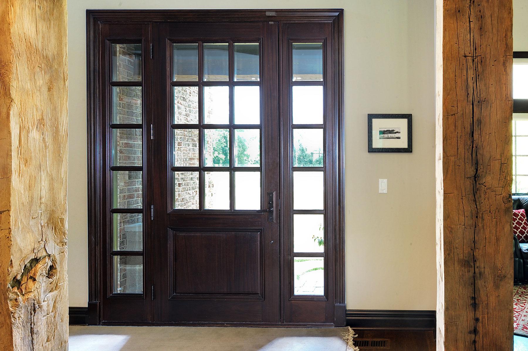 Glenview haus custom front door design a growing trend in for Custom transom