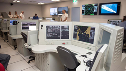 The New Zealand ANZAC combat system trainer is shown installed at the Maritime Warfare Training Centre at the Royal New Zealand Navy base in Devonport, NZ