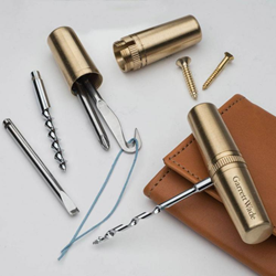 brass capsule EDC multitool