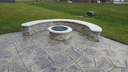 Fire Pit Wall Tightstack Flagstone Patio