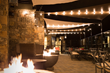 The Landing's in-house restaurant, Jimmy's, includes an inviting outdoor patio with fire pits and views of the lake.
