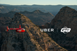 Uber Technologies partners with Guidance Air during the NCAA Finals to offer rides over the Phoenix and Glendale area.