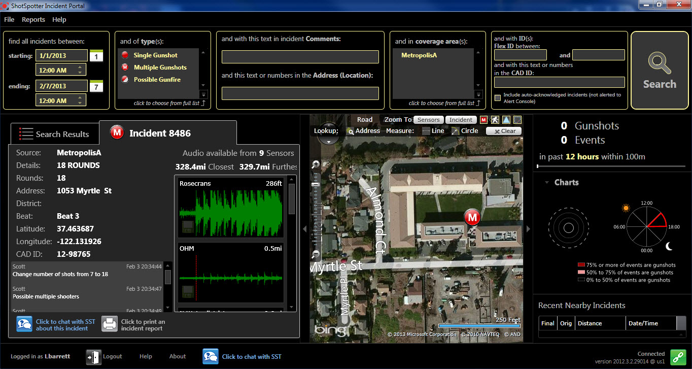 Genetec Inc Integrates Shotspotter Gunshot Detection