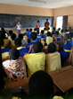 Teaching in the classroom in Abeadze-Dominase, Ghana
